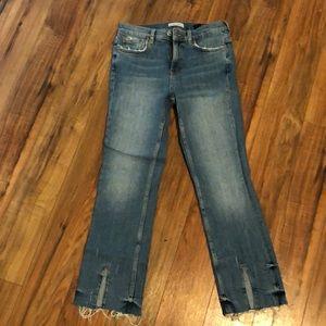 Zara Ankle Jeans Front Split